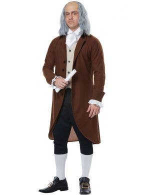 Colonial Man Adult's Olden Days Fancy Dress Costume
