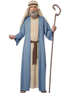 Men's Blue Shepherd Biblical Fancy Dress Costume
