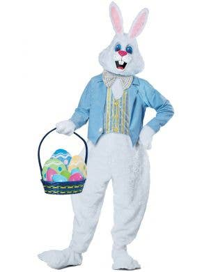 Deluxe Plush Easter Bunny Adult's Fancy Dress Costume