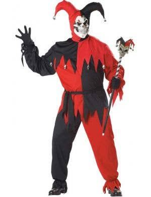 Plus Size Men's Evil Jester Halloween Costume