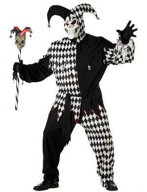 Plus Size Evil Jester Men's Costume Front View