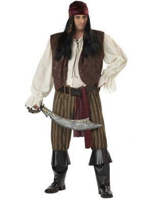 Rogue Pirate Plus Size Men's Fancy Dress Costume