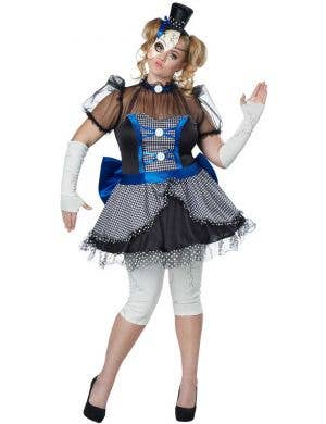 Plus Size Creepy Doll Women's Halloween Fancy Dress Front View