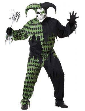 Evil Jester Plus Size Men's Halloween Costume