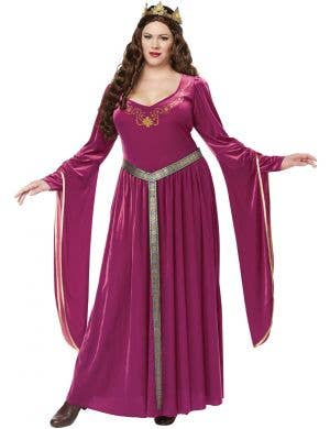 Lady Guinevere Plus Size Pink Medieval Women's Costume Main Image