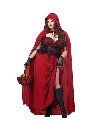 Plus Size Dark Red Riding Hood Women's Costume Main Image
