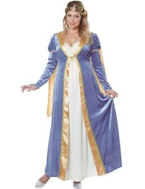 Women's Medieval Princess Plus Size Costume Front View
