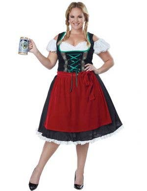 Plus Size Women's German Beer Girl Oktoberfest Costume Main Image