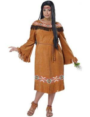 American Indian Plus Size Women's Costume