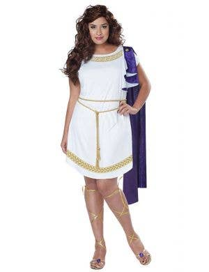 Grecian Goddess Women's Plus Size Toga Costume Main Image