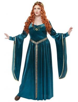 Plus Size Women's Lady Guinevere Medieval Renaissance Costume