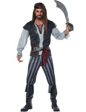 Scallywag Pirate Plus Size Men's Fancy Dress Costume