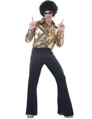1970's Disco King Plus Size Men's Fancy Dress Costume