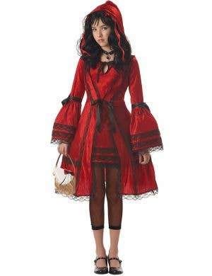 Red Riding Hood Girl's Gothic Costume Front View