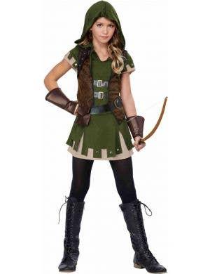 Teenage Girl's Robin Hood Medieval Costume Front Image