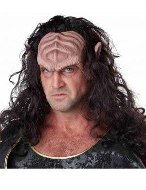 Adult's Klingon Brown Wig with Latex Headpiece