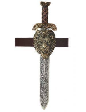 Gladiator Sword with Gold Lion Sheath Main Image