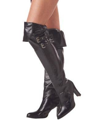 Pirate Boot Covers in Black Vinyl