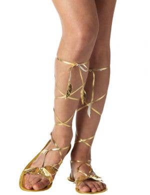 Goddess Gold Strappy Costume Sandals