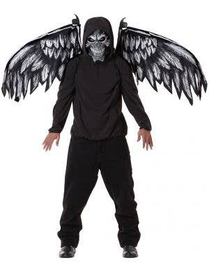 Men's Black And Grey Halloween Movable Moving Bat And Devil Costume Wings 1.22m Costume Accessory Main Image