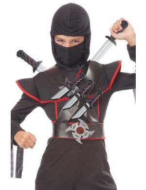 Stealthy Ninja Boys Costume Weapon Set Main Image