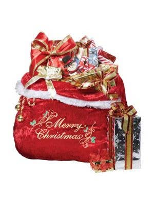 Faux Fur Trimmed Deluxe Santa's Toy Sack