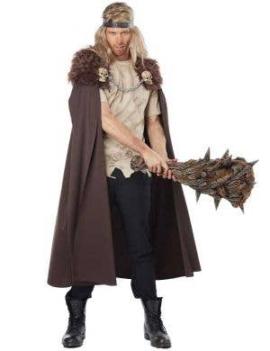 Adult's Viking Costume Cape with Brown Fur