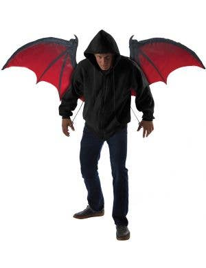 Bloodnight Men's Halloween Bat Wings Costume Accessory