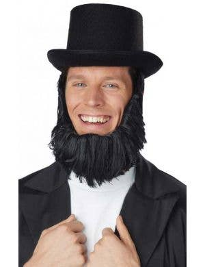 Abraham Lincoln Costume Top Hat and Beard
