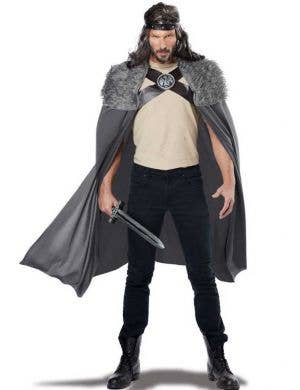 Game of Thrones Grey Fur Costume Cape