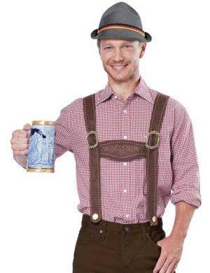Men's Oktoberfest German Lederhosen Costume Set