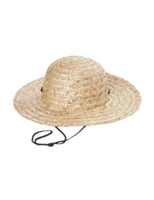 Tan Coloured Wide Brim Australia Flag Sun Hat