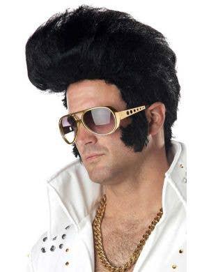 Elvis Presley Men's King of Rock Costume Wig
