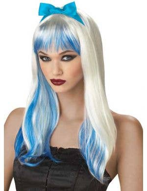 Enchanted Tresses Women's Blonde and Blue Wig