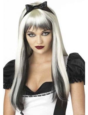 Enchanted Tresses Women's Blonde and Black Wig