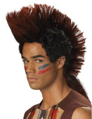 Indian Warrior Men's Mohawk Wig