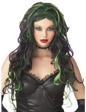 Wicked Witch Black and Green Halloween Wig