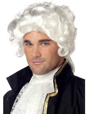 Colonial Men's White Costume Wig