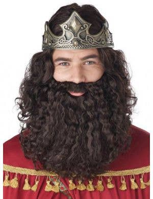 Biblical Men's Brown Costume Wig and Beard Set