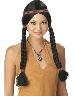 Indian Maiden Women's Native American Costume Wig