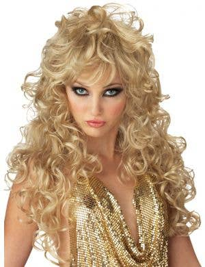 Seduction 70's Blonde Disco Wig