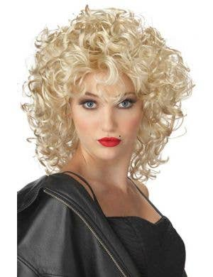 Short Curly Blonde Sandra Dee Costume Wig for Women