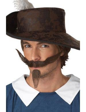 The Dandy Dark Brown Moustache and Goatee