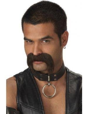 The Leather Daddy Dark Brown Moustache