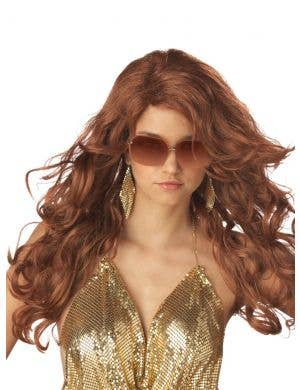Super Model Women's Auburn Red Costume Wig