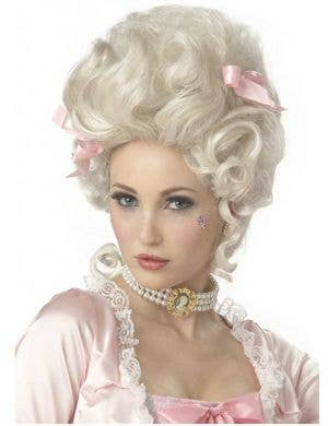 French Queen Marie Antoinette Women's Curly Blonde Wig