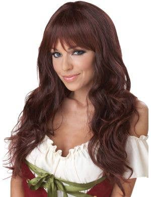 Coquette Long Wavy Chocolate Brown Women's Costume Wig