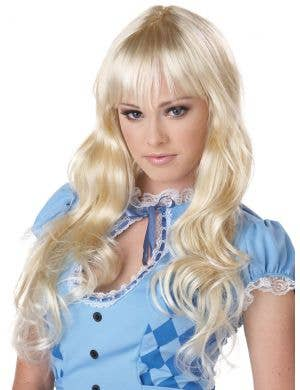 Coquette Women's Long Blonde Alice Costume Wig