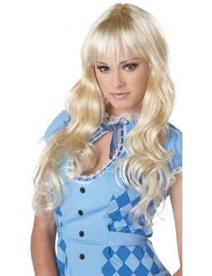 Coquette Women's Long Blonde Alice Costume Wig