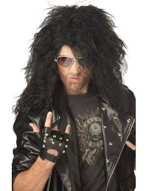 Men's 1980 Heavy Metal Rock Star Wig Image 1